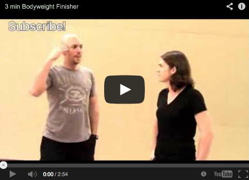 3 min Bodyweight Finisher