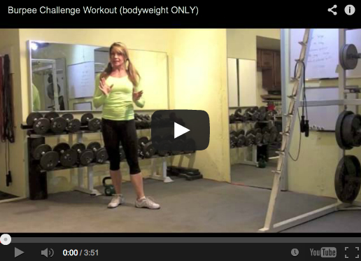 Burpee Challenge Workout (Bodyweight only)