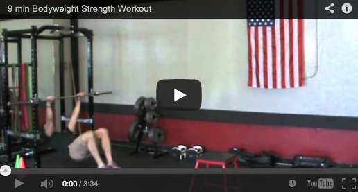 9 minute Bodyweight Strength workout