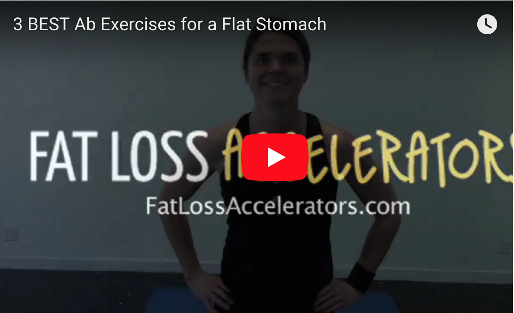 3 BEST Ab Exercises For A Flat Stomach